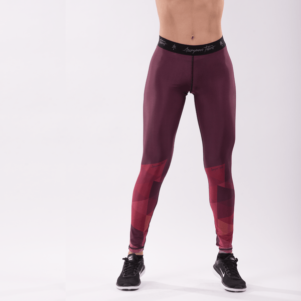 AT GEOMETRIC Pro Women Full Leggins