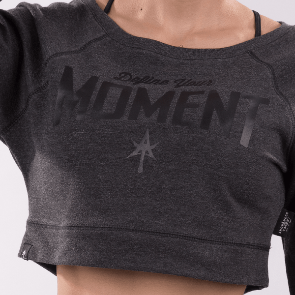 DEFINE YOUR MOMENT Sweat Shirt Crop Top