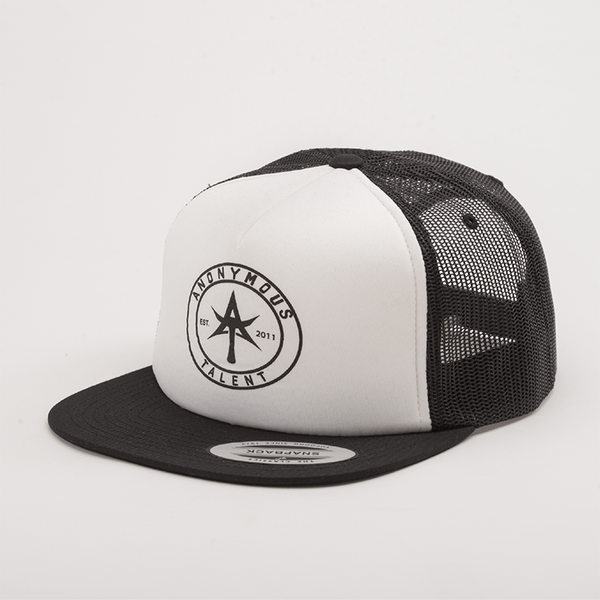 AT CIRCLE Foam Trucker White