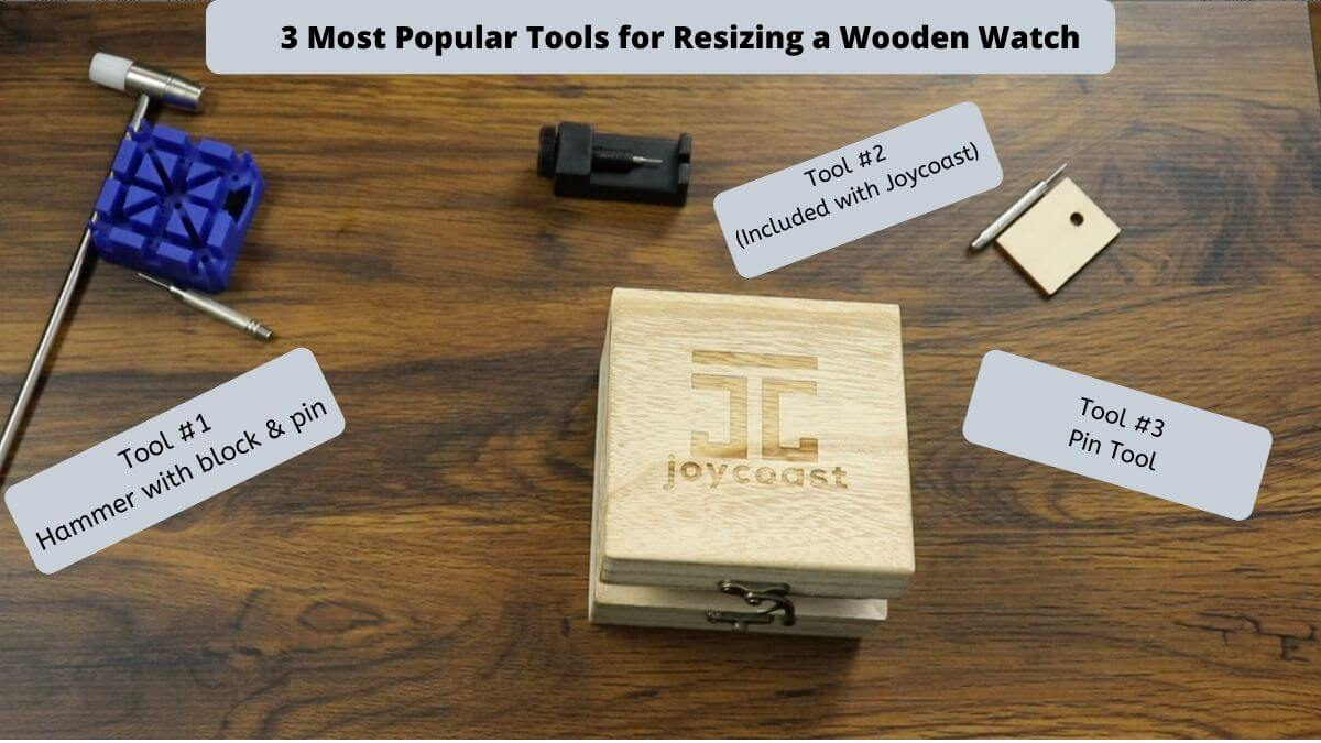 Common Tools for Adjusting and Removing Links from Wooden Watches