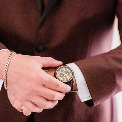 wooden watch for groom