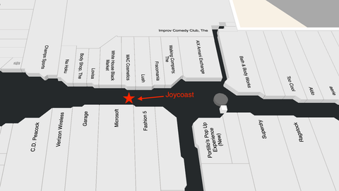 map of woodfield mall, joycoast kiosk