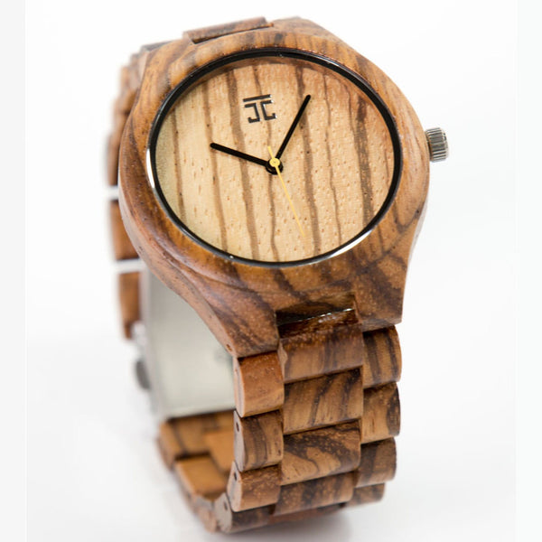 Zebrawood Wooden Watch | Joycoast, a Chicago company.