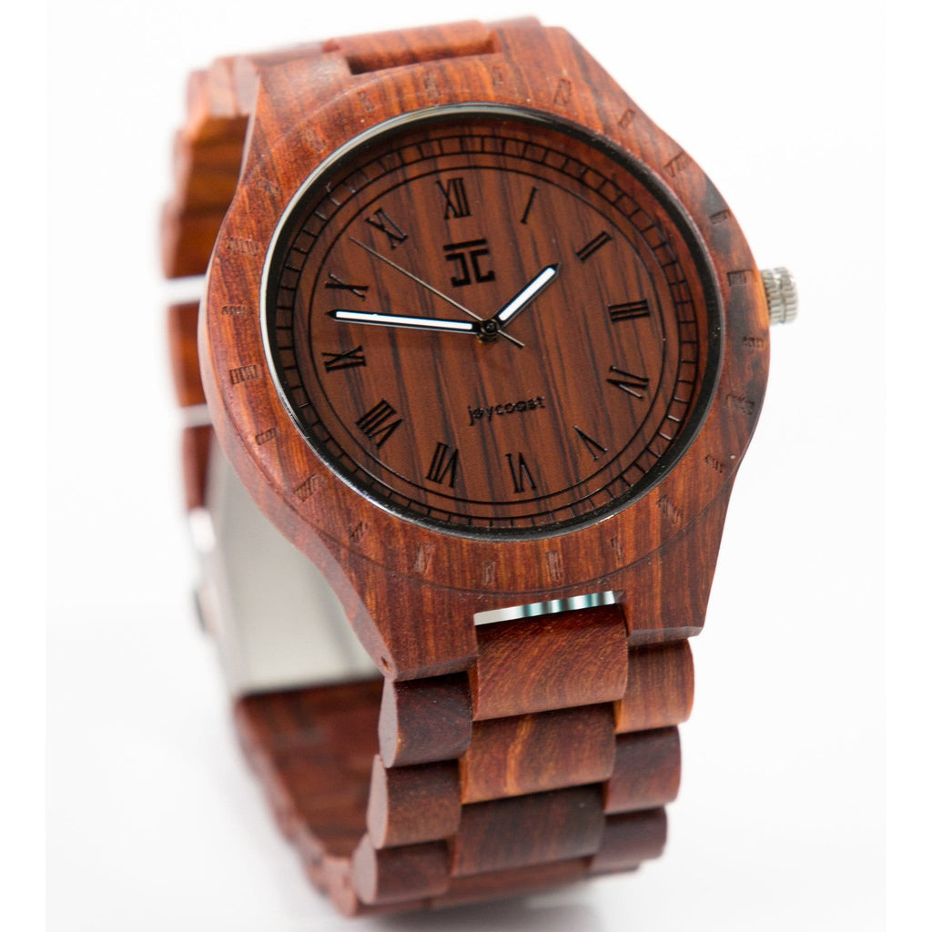 strap woodgrain sandalwood watches wood analog leather watch quartz black wooden