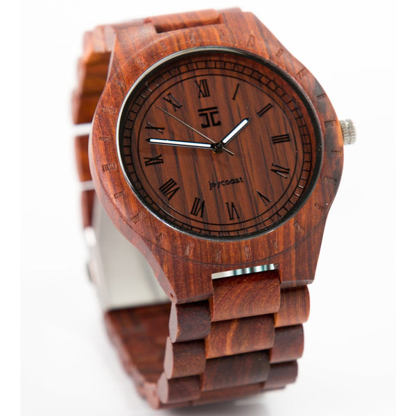 Wooden Watch | Red Sandalwood - Joycoast, a Chicago based company.