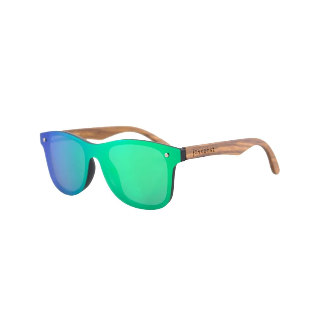 Brite // Walnut Wooden Sunglasses // Green Lenses - Wooden Watches and Sunglasses - Joycoast