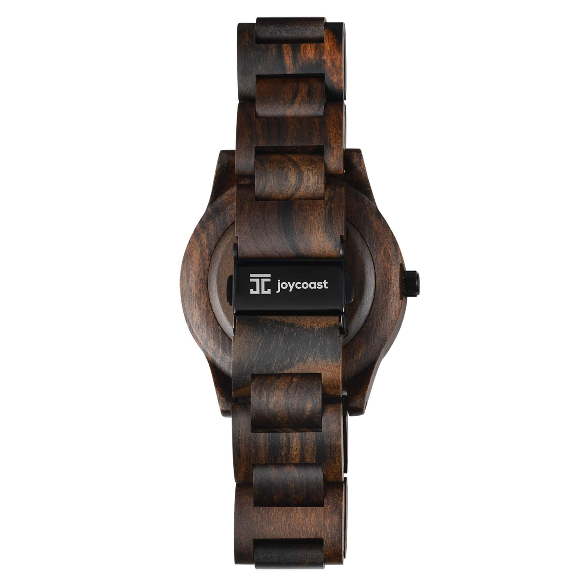 Chocolate Rose \ Dark Sandalwood & Rose Gold - Wooden Watches and Sunglasses - Joycoast