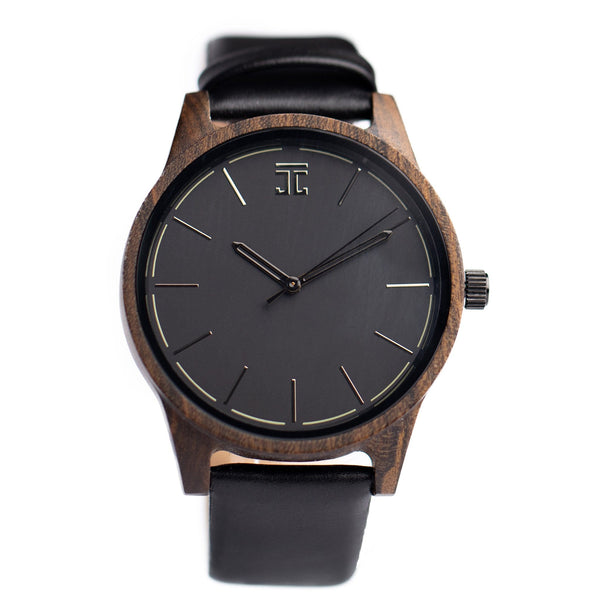 Wooden Watch for Men, Handmade from Dark Sandalwood | Joycoast, a Chicago Company.