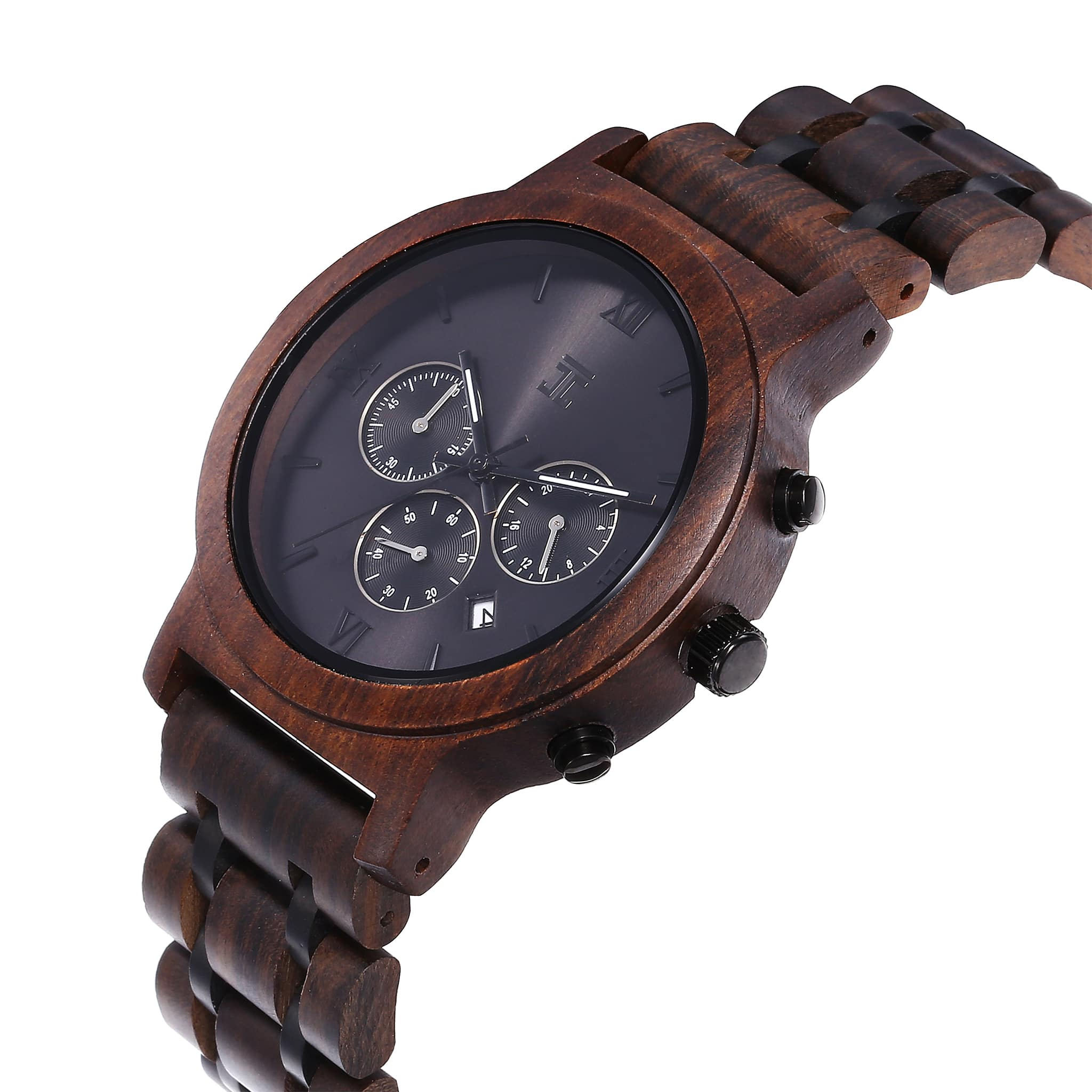 Dark Sandalwood Chronograph - Wooden Watches and Sunglasses - Joycoast