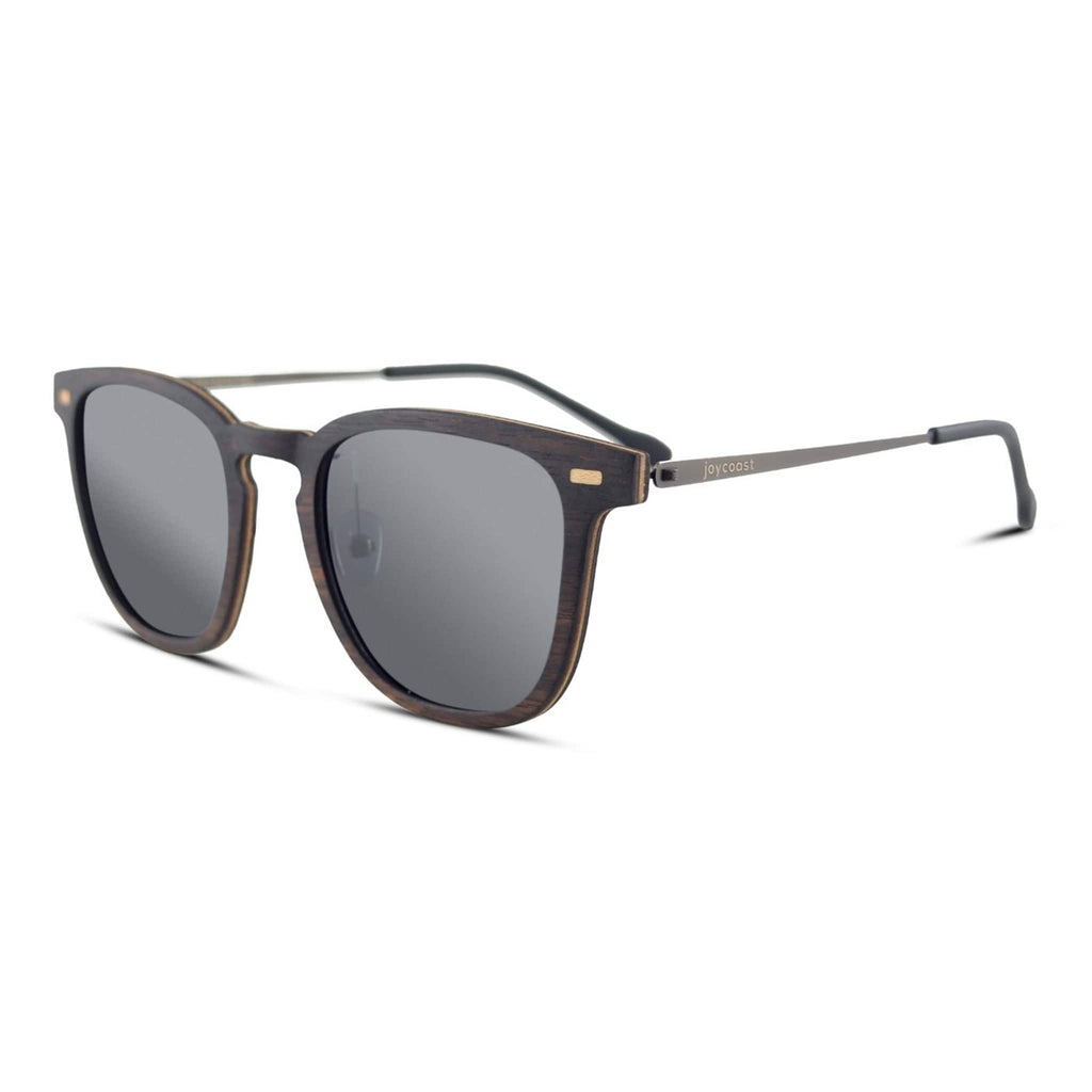 """The Jo"" Ebony Wooden Sunglasses - Joycoast"