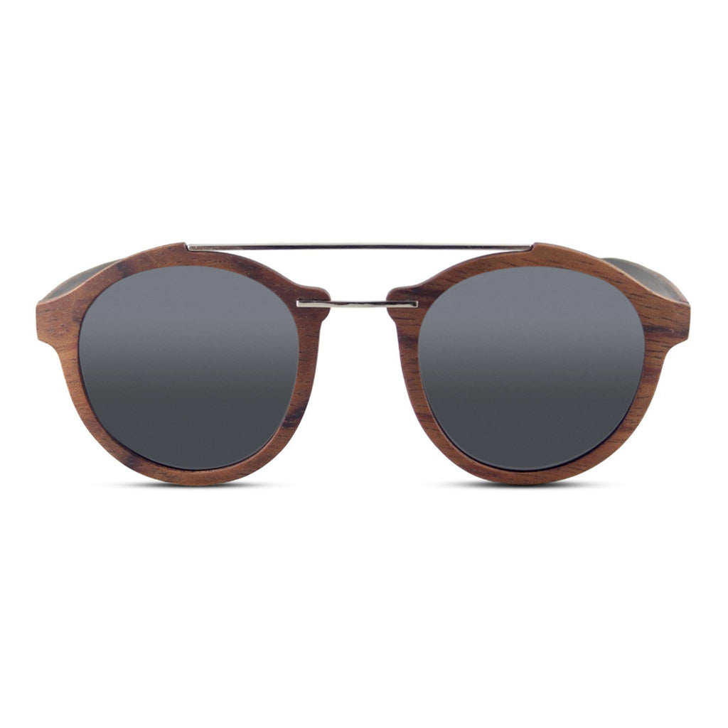 """Kotter"" Walnut Wooden Sunglasses - Joycoast"