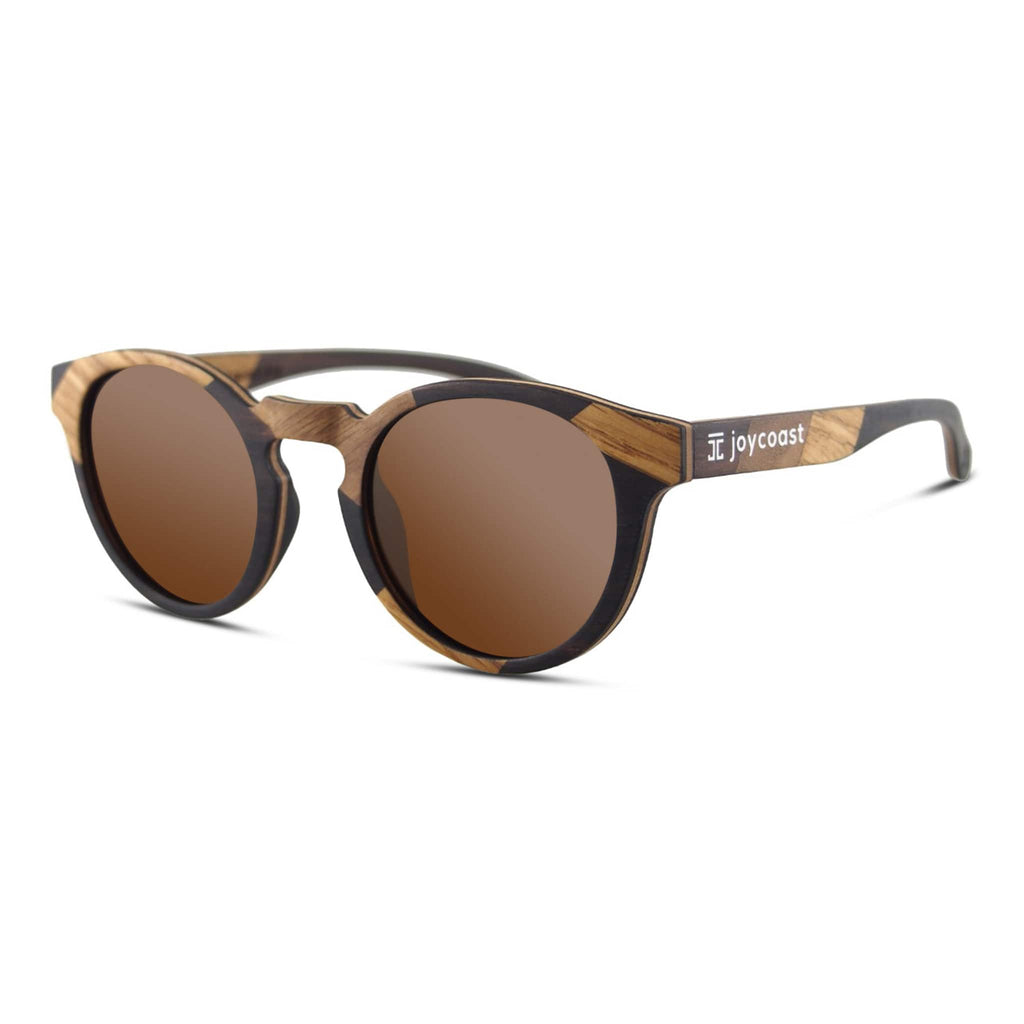 """Terra"" Round Wooden Sunglasses - Joycoast"