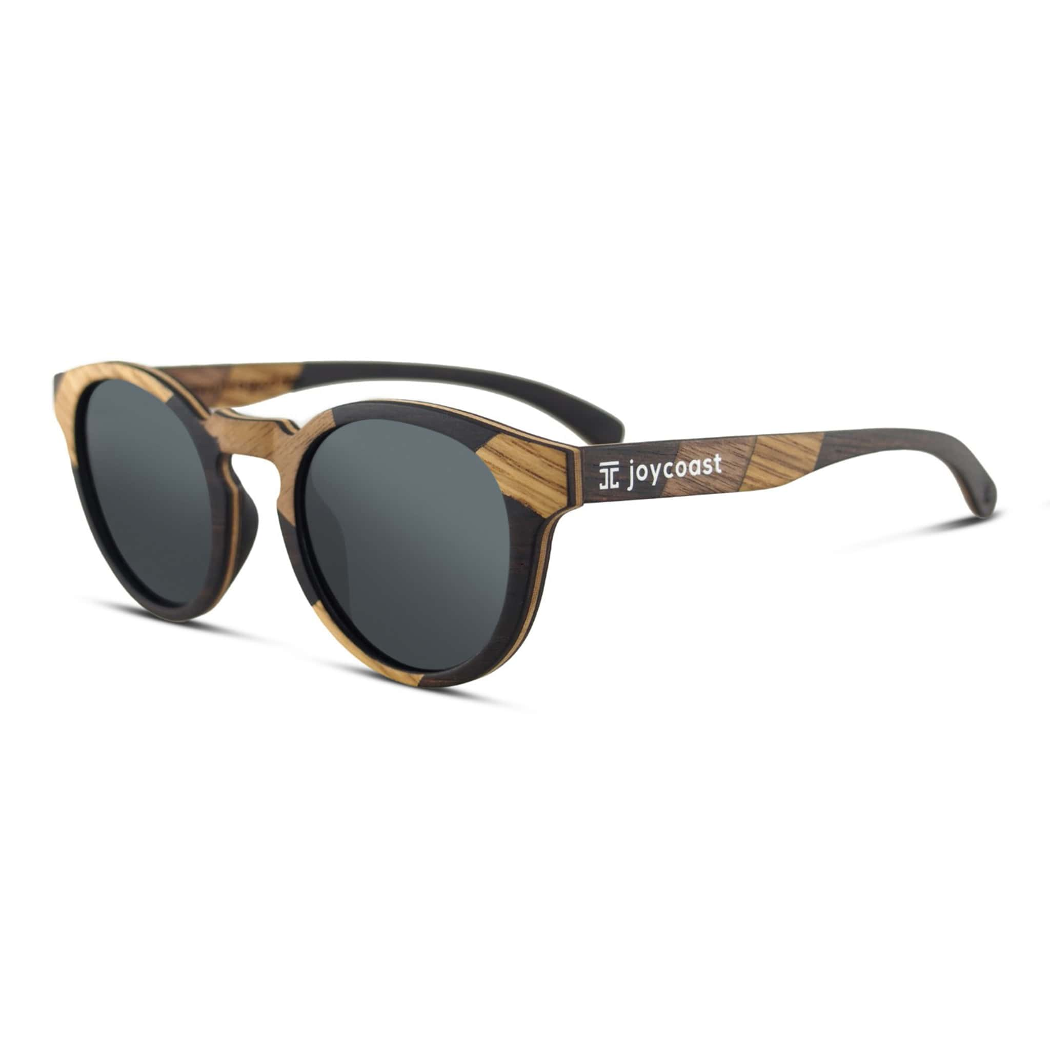 """Terra"" Round Wooden Sunglasses - Wooden Watches and Sunglasses - Joycoast"