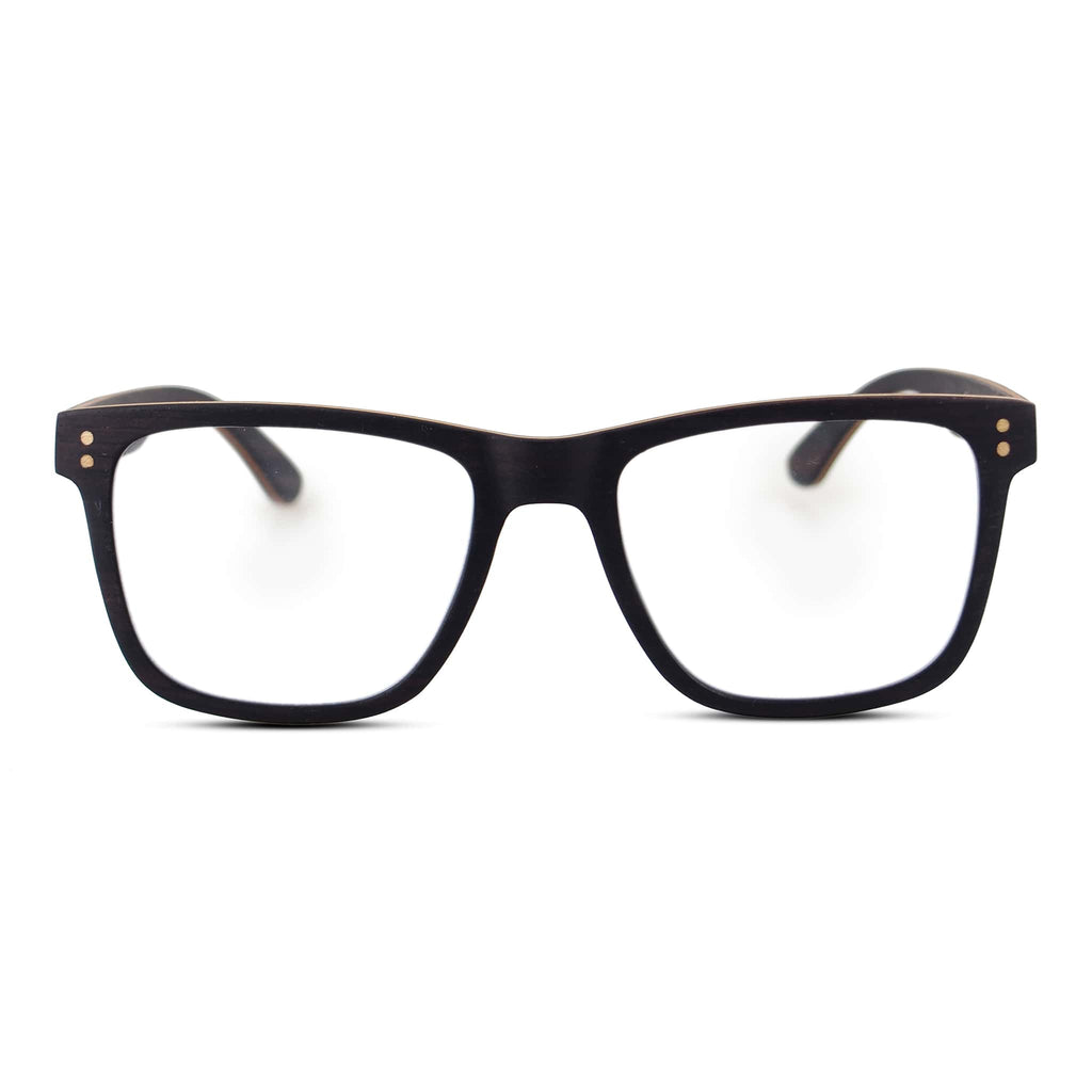 Ebony Wood Blue Light Blockers - Wooden Eye Glasses - Joycoast