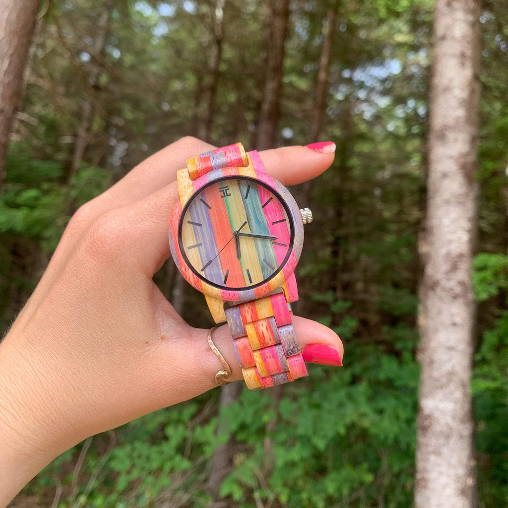 Fruitloops Bamboo Wooden Watch - Wooden Watches and Sunglasses - Joycoast