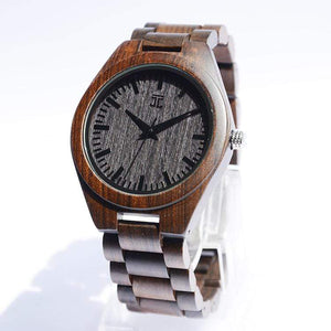 """Everywhere"" - Men's Dark Sandalwood Watch - Wooden Watches and Sunglasses - Joycoast"