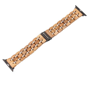 Apple Watch Band - Maple & Steel - Wooden Watches and Sunglasses - Joycoast