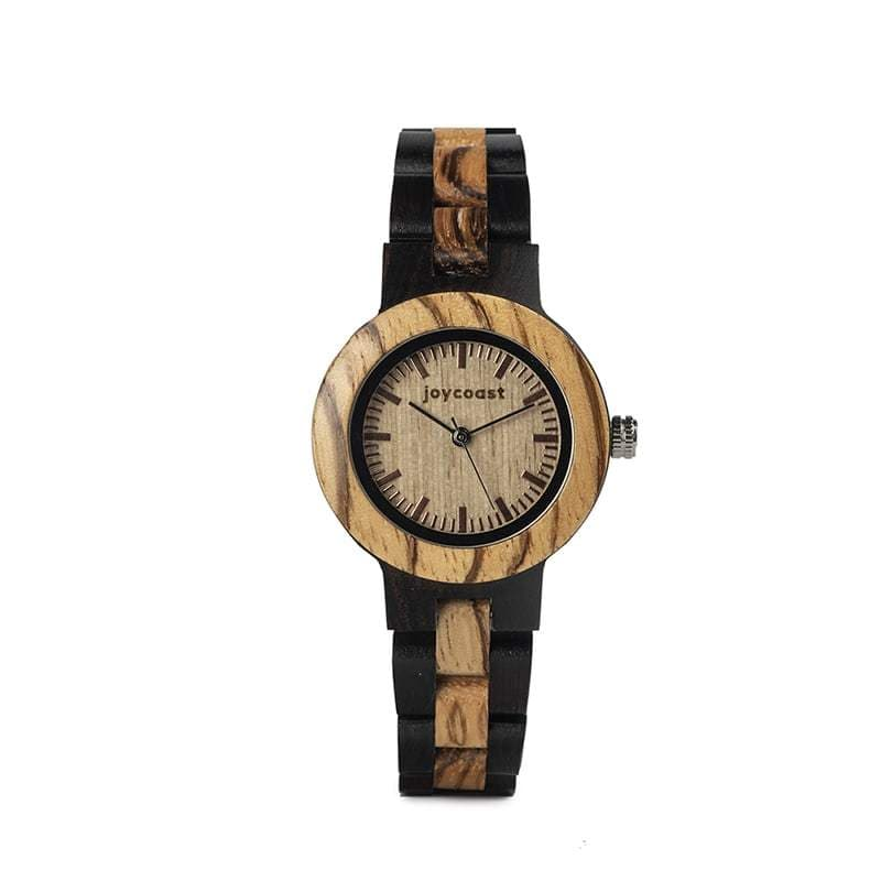 Women's Zebra + Ebony Wooden Watch | Ebony Zebra - Wooden Watches and Sunglasses - Joycoast