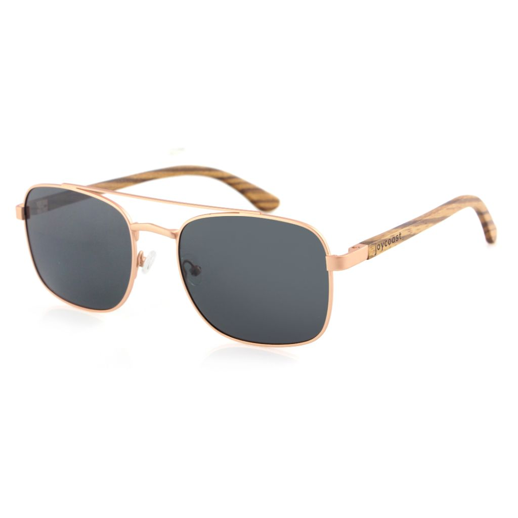 Aviator Rose Gold - Wooden Watches and Sunglasses - Joycoast