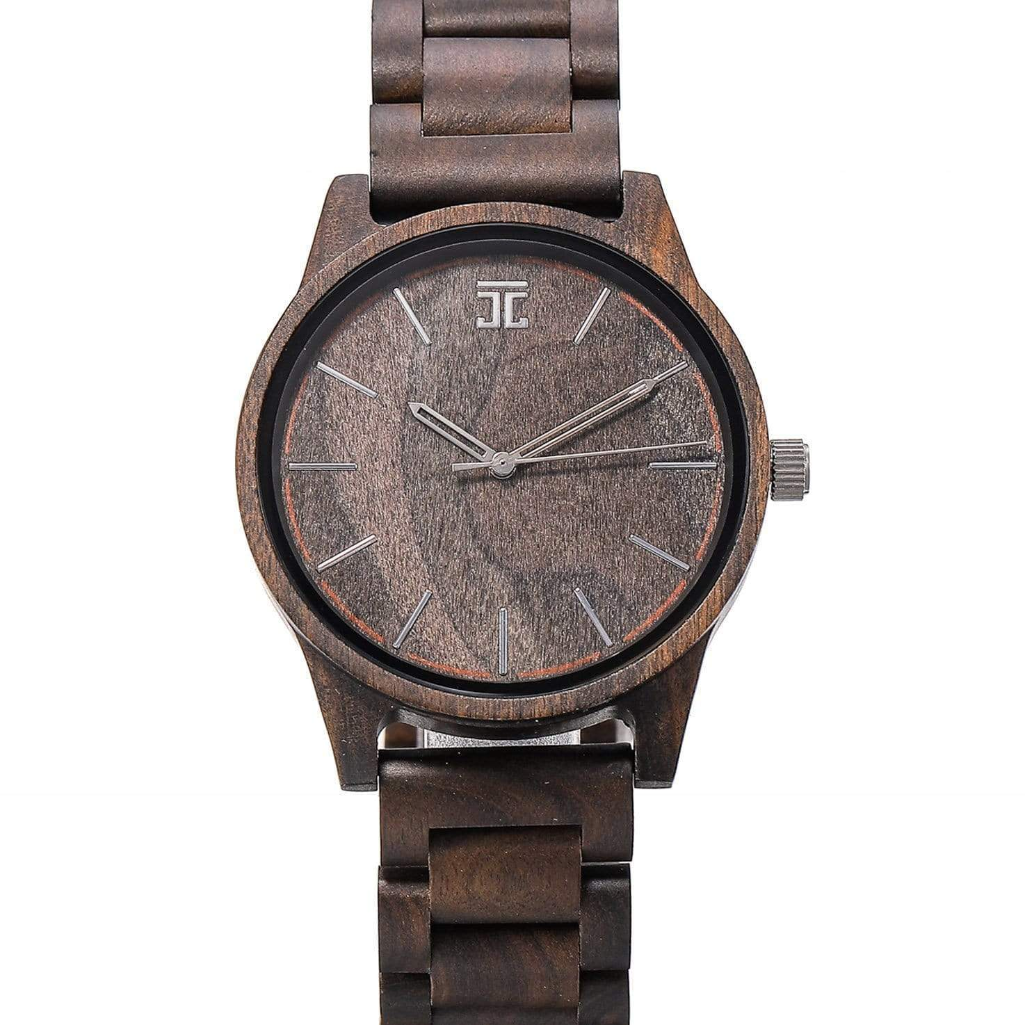 Dark Sandalwood // Woodgrain Dial - Wooden Watches and Sunglasses - Joycoast