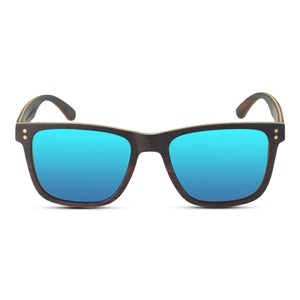 Wayfinder Ebony Wooden Sunglasses (Blue Lenses) - Wooden Watches and Sunglasses - Joycoast