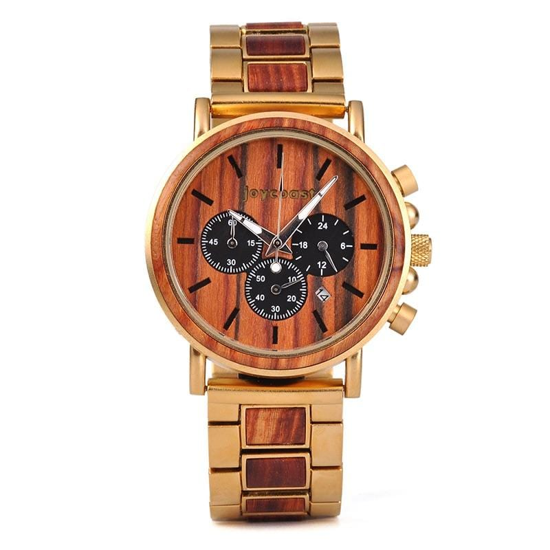 Red Sandalwood & Gold - Wooden Watches and Sunglasses - Joycoast