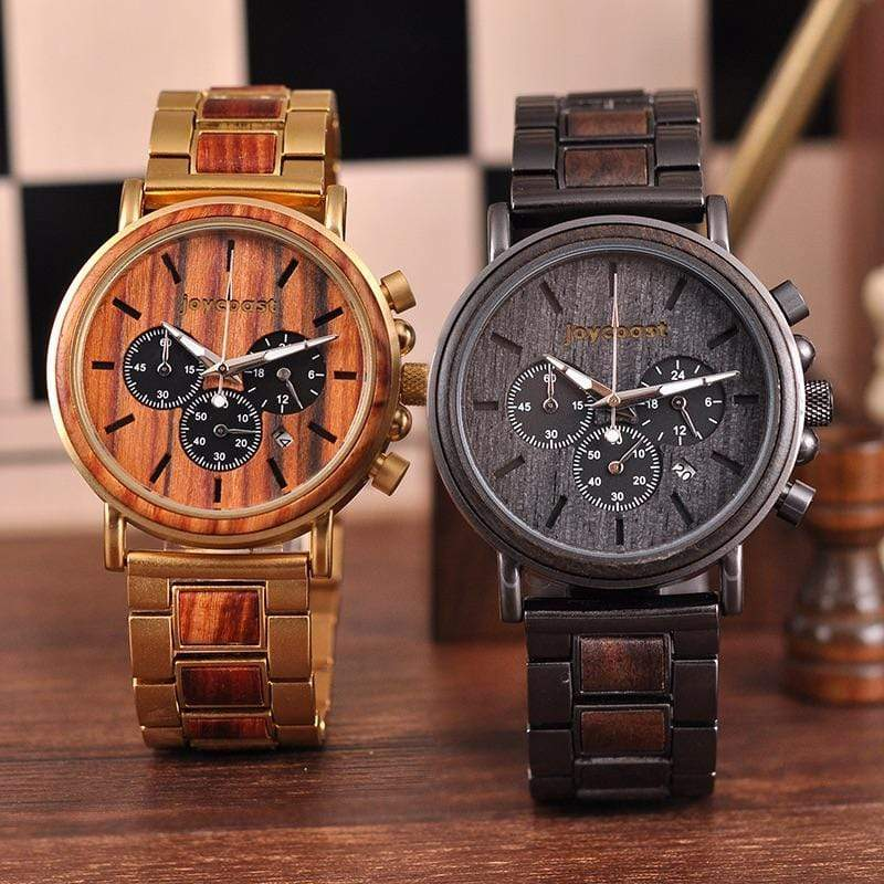 Red Sandalwood & Gold | Armored Collection - Wooden Watches and Sunglasses - Joycoast