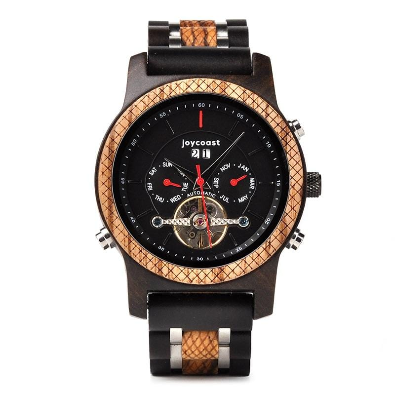 Dark Sandalwood & Zebra - Wooden Watches and Sunglasses - Joycoast