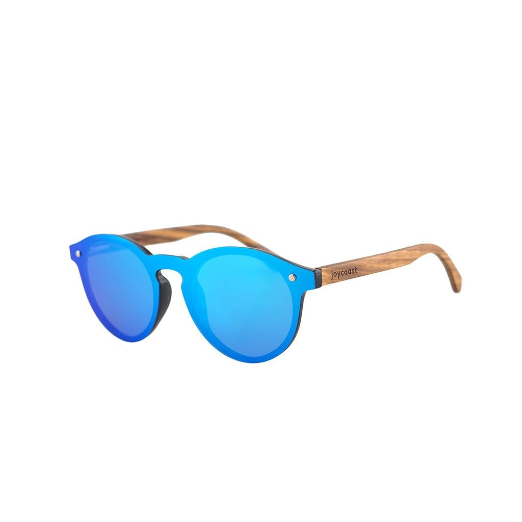 Winnie Blue Wooden Sunglasses - Wooden Watches and Sunglasses - Joycoast