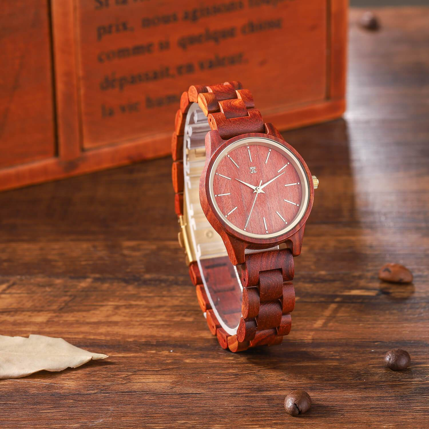Firecracker | Red Sandalwood Watch - Wooden Watches and Sunglasses - Joycoast