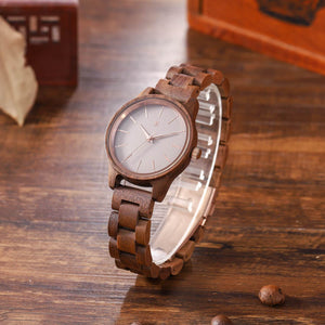 American Walnut | Women's Wooden Watch - Wooden Watches and Sunglasses - Joycoast
