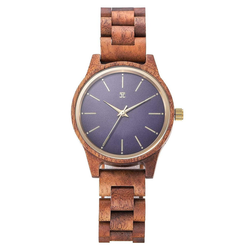 Blue Sapphire | Walnut Wood - Wooden Watches and Sunglasses - Joycoast