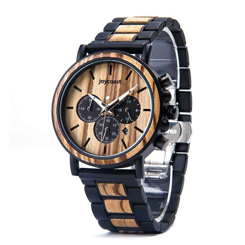 Onyx | Zebra x Steel - Wooden Watches and Sunglasses - Joycoast