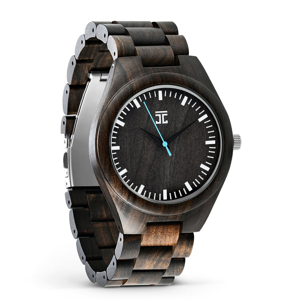Blue Havana - Dark Sandalwood Watch - Wooden Watches and Sunglasses - Joycoast