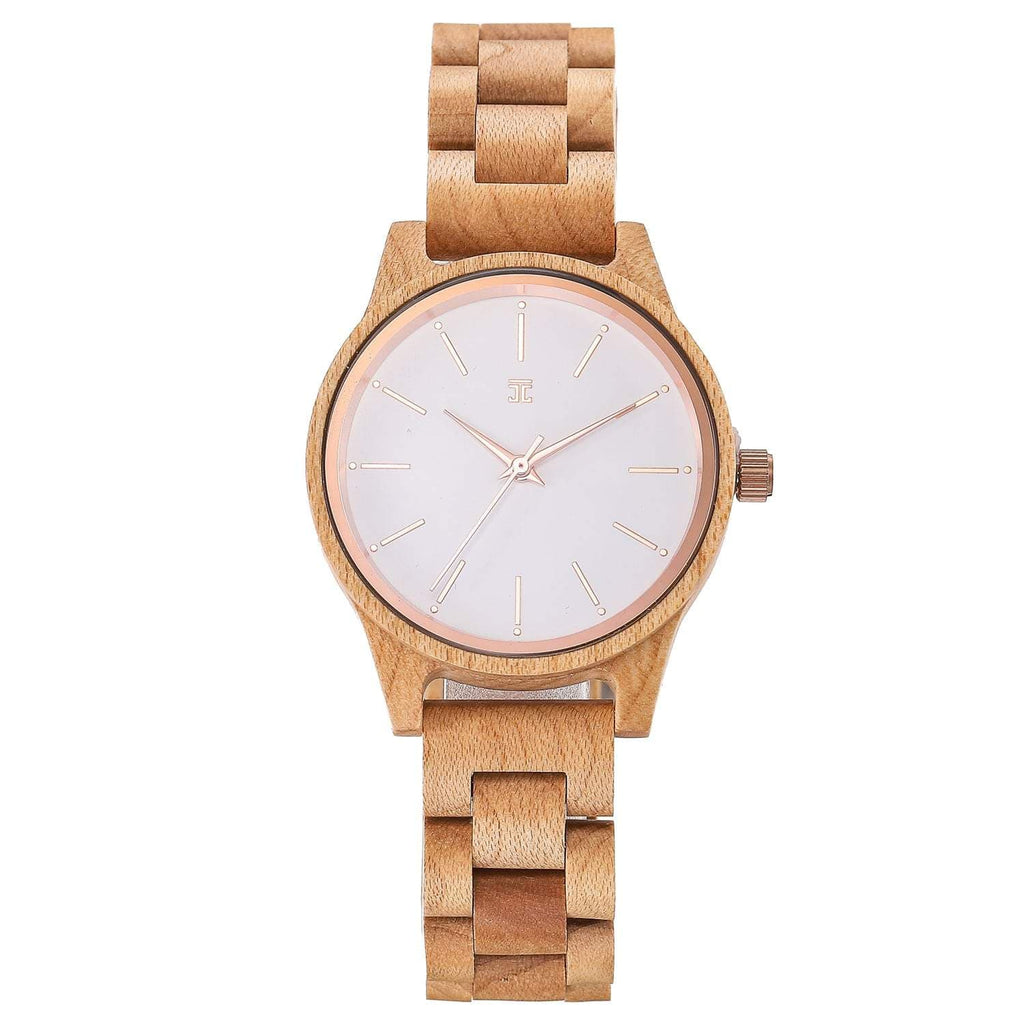 Snowball | Maple Wood Women's Watch - Wooden Watches and Sunglasses - Joycoast