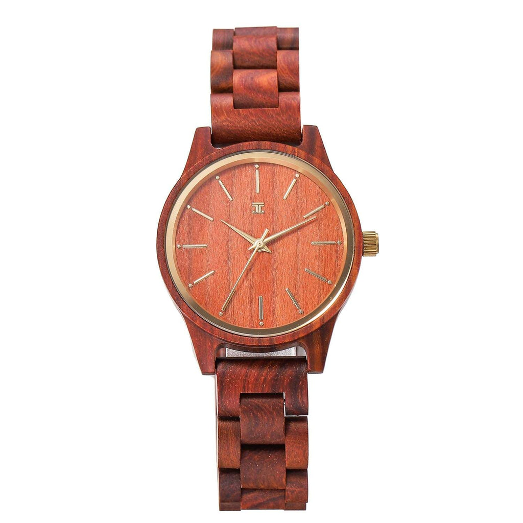 Red Sky | Red Sandalwood Watch - Wooden Watches and Sunglasses - Joycoast