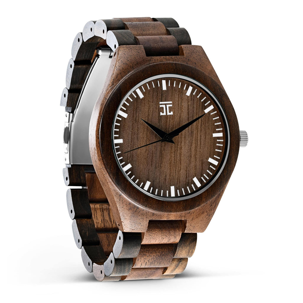Walnut & Dark Sandalwood - Wooden Watches and Sunglasses - Joycoast
