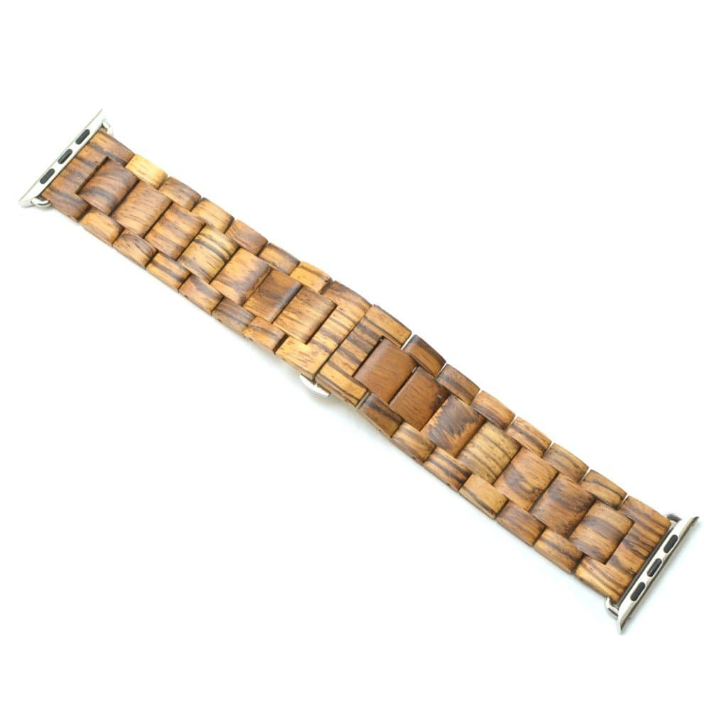 Zebra Wood Apple Watch Band - Wooden Watches and Sunglasses - Joycoast