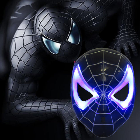 LED Black Spiderman Mask