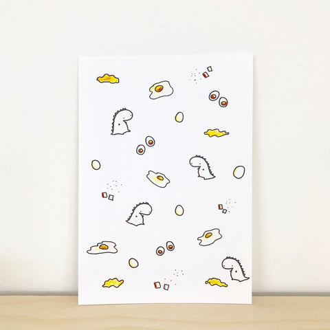 Scrambled Egg Pattern Postcard