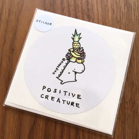Tinee Dino Positive Creature Sticker