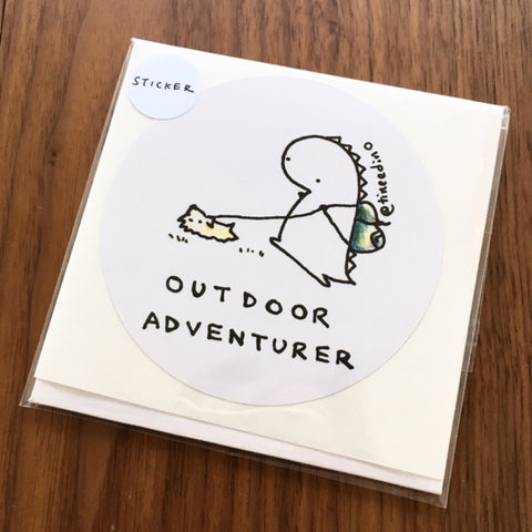 Tinee Dino Outdoor Adventurer Sticker