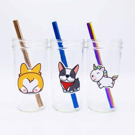 Eco-Friendly Reusable Bubble Tea Cup with Stainless Steel Straw
