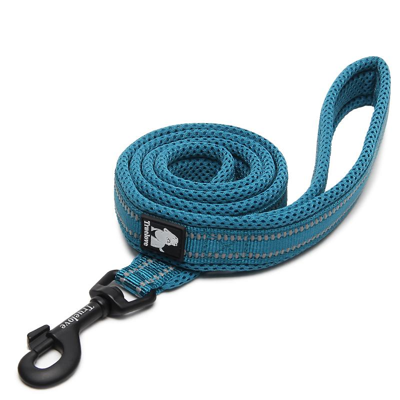 "BLUE REFLECTIVE LEASH Leashes barkindustry S (small 3/4"") 110 CM"