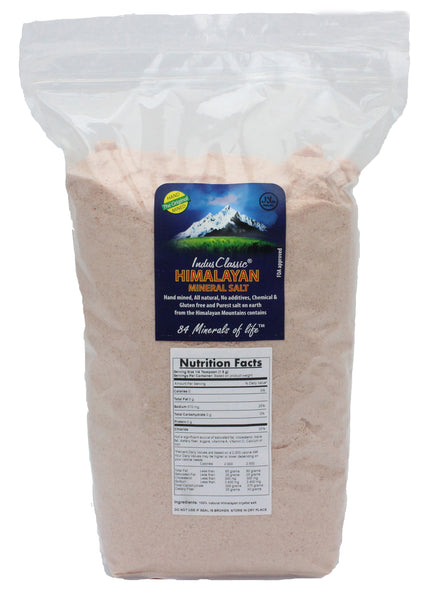 IndusClassic® 10 lbs Authentic Pure Natural Halall Unprocessed Himalayan Edible Pink Cooking Fine Grain Salt ( 0.5mm to 1mm )