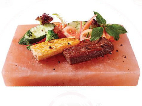 IndusClassic® RSP-21 Himalayan Salt Block, Plate, Slab for Seasoning, And Serving (8 X 6 X 2)