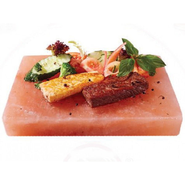 IndusClassic® SSP-03 Himalayan Salt Block, Plate, Slab for Cooking, Grilling, Seasoning, And Serving (9 X 9 X 1.5)
