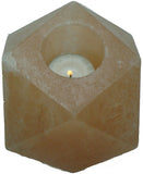 IndusClassic® TLN-17 Himalayan Natural Crystal Salt Diamond Tea Light Candle Holder