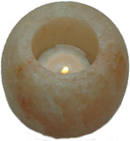 IndusClassic® TLN-18 Himalayan Natural Crystal Salt Apple Tea Light Candle Holder