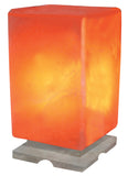 Indusclassic® LGM-08 Rectangular Himalayan Crystal Rock Salt Lamp Ionizer Air Purifier With Marble Base And Dimmable Control